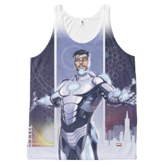 Superior Iron Man And City All-Over-Print Tank Top