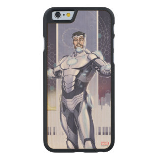 Superior Iron Man And City Carved Maple iPhone 6 Case