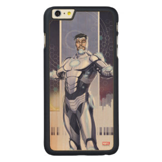 Superior Iron Man And City Carved® Maple iPhone 6 Plus Case