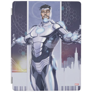 Superior Iron Man And City iPad Cover