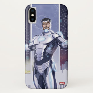 Superior Iron Man And City iPhone X Case