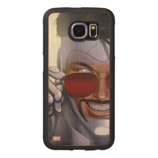 Superior Iron Man In Sunglasses Wood Phone Case