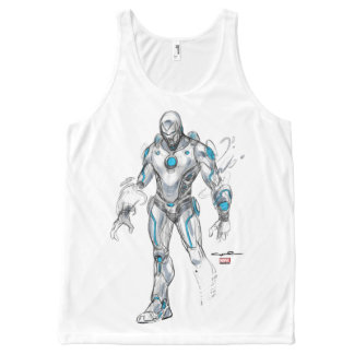 Superior Iron Man Sketch All-Over-Print Tank Top