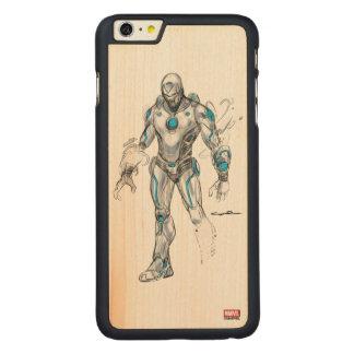 Superior Iron Man Sketch Carved® Maple iPhone 6 Plus Case