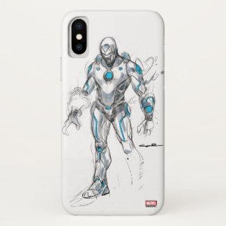 Superior Iron Man Sketch iPhone X Case