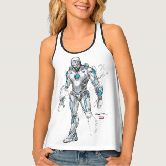Superior Iron Man Sketch Tank Top