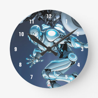 Superior Iron Man Suit Up Round Clock