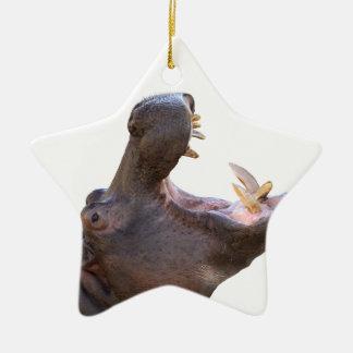 Superior product of hippopotamus ceramic star ornament