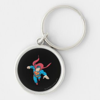 Superman 19 Silver-Colored round keychain