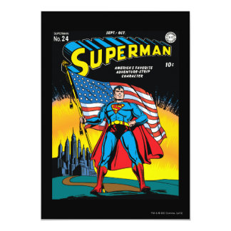 "Superman #24 5"" x 7"" invitation card"