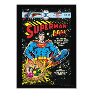 Superman #300 personalized invitation