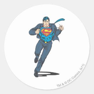 Superman 48 classic round sticker