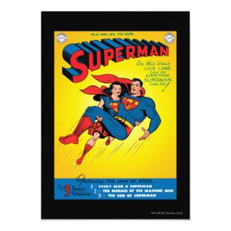 "Superman #57 5"" x 7"" invitation card"