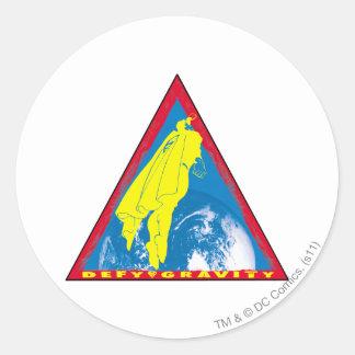 Superman 70 round sticker