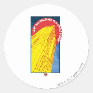 Superman 72 round sticker
