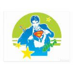 Superman 80's Style Postcard