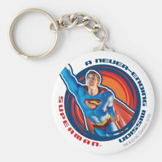 Superman A Never-ending Mission Basic Round Button Keychain