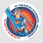 Superman A Never-ending Mission Round Sticker
