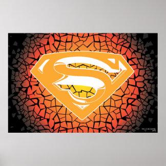 Superman a stylisé le logo de craquement de   poster