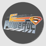 Superman All Powerful Round Sticker
