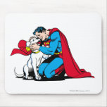 Superman and Krypto Mousepads