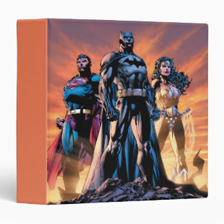 Superman, Batman, & Wonder Woman Trinity 3 Ring Binder