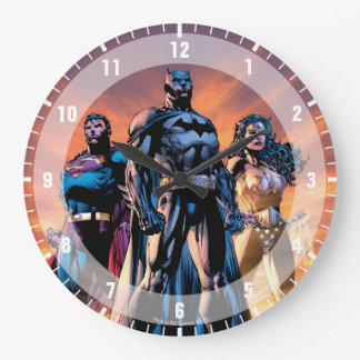 Superman, Batman, & Wonder Woman Trinity Large Clock