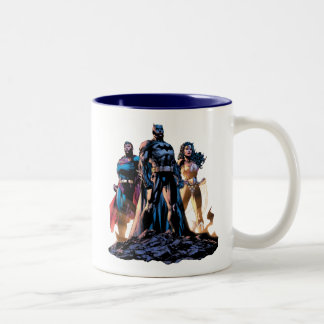 Superman, Batman, & Wonder Woman Trinity Two-Tone Coffee Mug