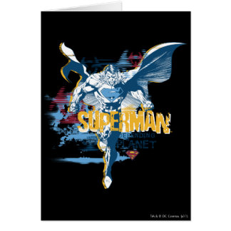 Superman Bio Design Greeting Card