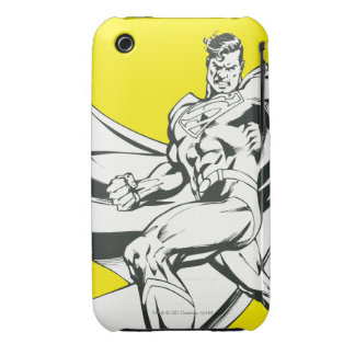 Superman Black and White 2 iPhone 3 Cover