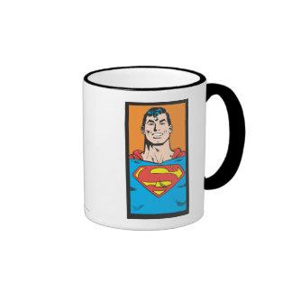 Superman Bust Frame Ringer Coffee Mug