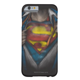 Superman | Chest Reveal Sketch Colorized Barely There iPhone 6 Case