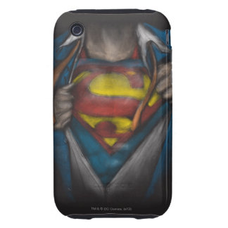 Superman   Chest Reveal Sketch Colorized iPhone 3 Tough Cover