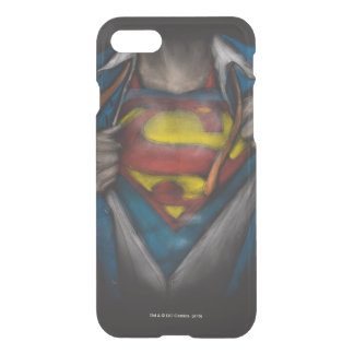 Superman   Chest Reveal Sketch Colorized iPhone 7 Case