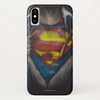 Superman | Chest Reveal Sketch Colorized iPhone X Case