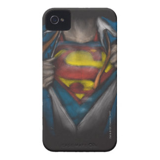 Superman Chest Sketch 2 iPhone 4 Cases