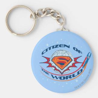 Superman Citizen of the World Basic Round Button Keychain