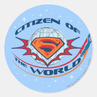 Superman Citizen of the World Classic Round Sticker