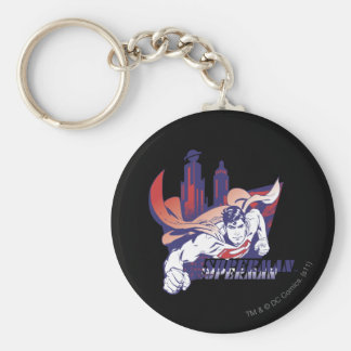 Superman City and Name Keychain