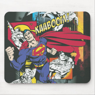 Superman Comic Black Mouse Pad