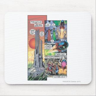 Superman Comic Panel - Clark's Origins Mouse Pad