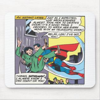 Superman Comic Panel - Lois An Instant Later Mousepad