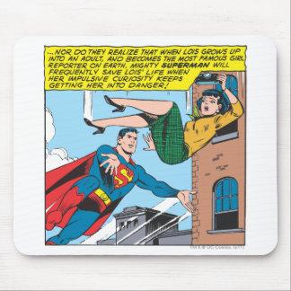 Superman Comic Panel - Saving Lois Mouse Pad