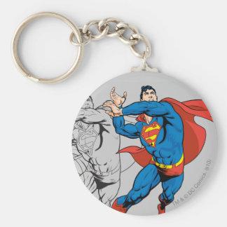Superman Comic Panels Basic Round Button Keychain