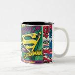 Superman Comic Panels Two-Tone Mug