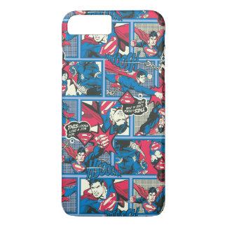 Superman Comic Pattern iPhone 7 Plus Case