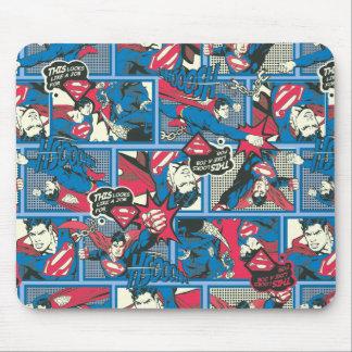 Superman Comic Pattern Mouse Pad
