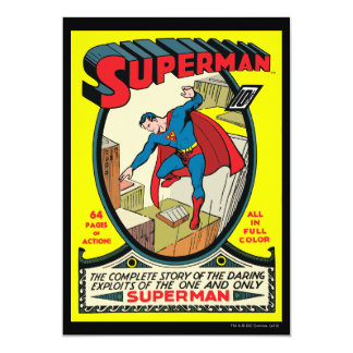 "Superman (Complete Story) 5"" X 7"" Invitation Card"