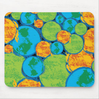 Superman Earth Collage Mouse Pad