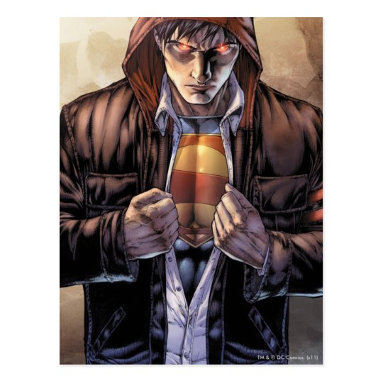 Superman Earth Cover - Colour Postcard